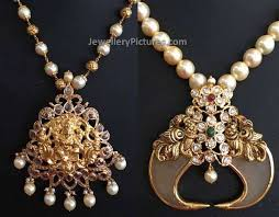 indian pearl gold jewellery designs