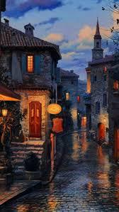 restaurant terrace night desktop pc