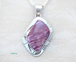 purple spiny oyster sterling silver