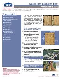 Attaching The Gate Wood Fence Installation Tips Lowe S