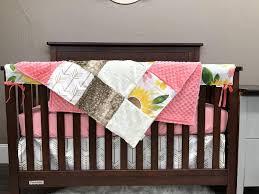 crib bedding girl sunflower nursery