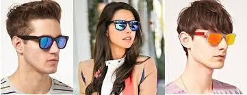 coloured mirrored sunglasses fashion