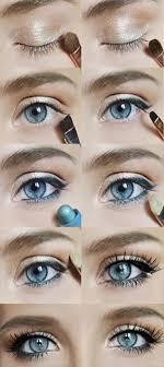 homeing makeup looks blue eyes