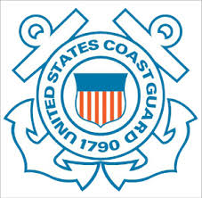 Coast Guard Window Decal American Legion Flag Emblem