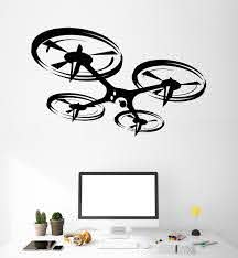 Vinyl Wall Decal Quadcopter Drone Uav Art Stickers Murals Unique Gift Ig4897 Wall Decals Vinyl Wall Decals Rc Drone With Camera