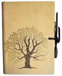 golden leaf tree leather journal 6 x