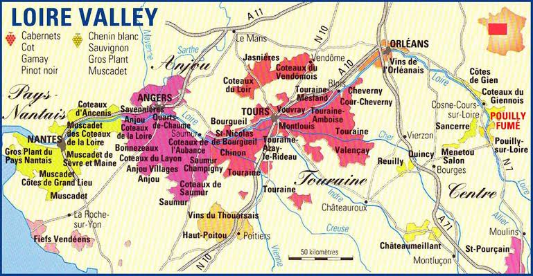 Image result for loire valley map""