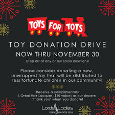 toys for tots donation drive lords