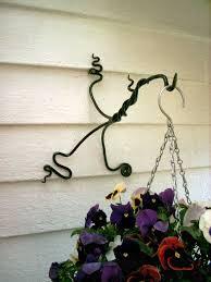 Garden Butterfly Concrete Fence Post Hook Over Hanging Basket Bracket Elipesa Com
