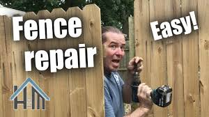 How To Fence Repair Replace Fence Pickets Replace Fence Post Easy Youtube