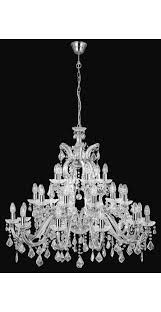 crystal chandelier with polished chrome