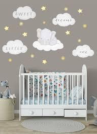 Elefant Wandsticker Junge Wolken Wandtattoo Elefant Wandtattoo Babyzimmer Aufkleber Elefant Sticker In 2020 Baby Room Wall Elephant Nursery Wall Boy Room Wall Decor