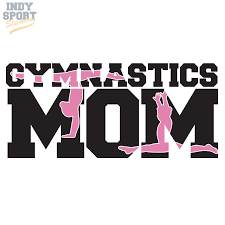 Gymnastics Mom Multiple Color With Gymnast Silhouettes Car Stickers And Decals