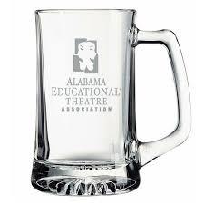 25 oz glass sport mug with etched logo