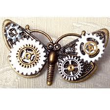 steunk brooch pin erfly