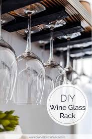 diy hanging wine glass rack crafted