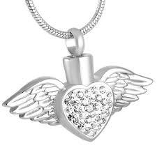 angel wing birthstone cremation urn