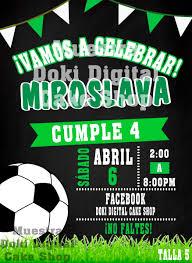Invitaciones Tipo Gif De Futbol 110 00 En Mercado Libre