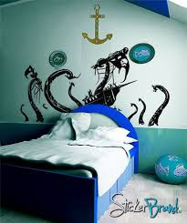 Vinyl Wall Decal Sticker Pirate Ship Attack By Octopus 24inx45in Item Gfoster166s Vinyl Wall Decals Pirate Bedroom Wall Decal Sticker