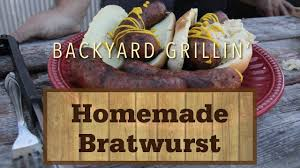 homemade bratwurst you