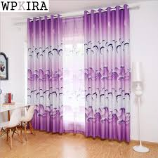 Dolphin Purple Blue Curtains Printed Sheer Voile Kids Boys Room Window Bedroom Curtains Tulle Drapes Fabrics Rideaux Zh018 20 Bedroom Curtains Blue Curtainstulle Drape Aliexpress