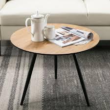 white round coffee table sofa side