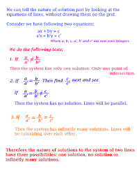 a system of 2 linear equations can have
