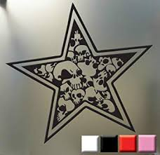 Amazon Com Star Skull Sticker Punk Goth Car Truck Window Decal Nautical Skulls And Stars Orange Die Cut Vinyl Decal For Windows Cars Trucks Tool Boxes Laptops Macbook Virtually Any Hard Smooth