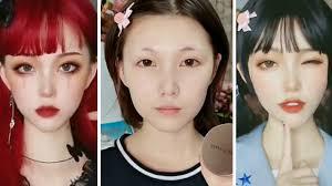 viral asian makeup transformation