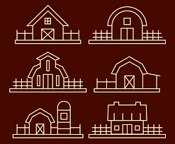Barn With Fence Line Vector Vector Art Graphics Freevector Com