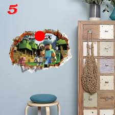 Minecraft Wall Stickers For Kids Room Decal Home 3d Lusy Store