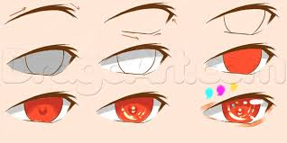 drawing and coloring anime eyes in sai