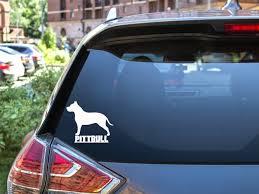 Pitbull Dog Decal Pitbull Car Decal Dog Decal Dog Sticker Etsy