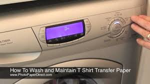 How To Wash And Maintain T Shirt Transfer Paper Youtube