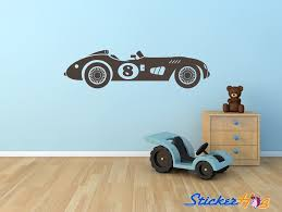 Vintage Race Car Number 8 Wall Decal Sticker