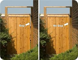 Wood Gate Stop To Hide The Gap Backyard Fences Vinyl Fence Yard Gate