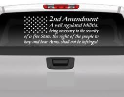 American Flag 2nd Amendment Vinyl Usa Decal Sticker Car Q Truck Window Patriotic Ebay