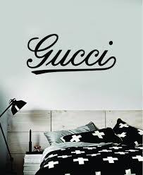 Gucci Cursive Wall Decal Home Decor Bedroom Room Vinyl Sticker Art Quo Boop Decals