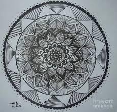Mandal Art Print By Usha Rai