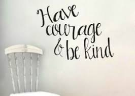 Have Courage And Be Kind Script Cinderella Wall Decal Ebay