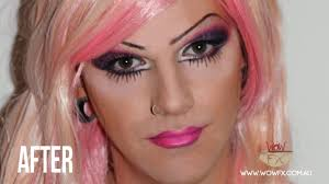 drag queen makeup application by wowfx