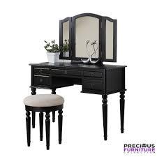 5 drawer makeup vanity set with stool