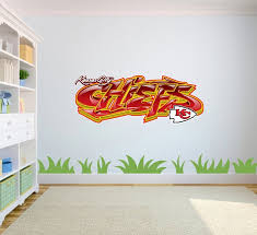 Kansas City Chiefs Graffiti Wall Vinyl Decal Etsy