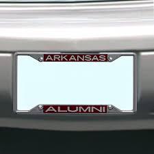 Amazon Com Ncaa Arkansas Razorbacks License Plate Frame Alumni Sports Fan License Plate Frames Sports Outdoors