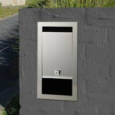 Front Open Fence Brick In Letterbox 304 Stainless Steel Front Mailbox Key Lock Ebay