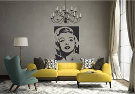 Marilyn Monroe Portrait Wall Decal Sticker Famous Celebrity Etsy