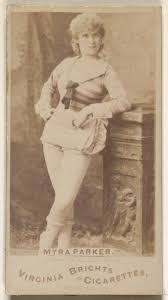 Issued by Allen & Ginter | Myra Parker, from the Actors and Actresses  series (N45, Type 1) for Virginia Brights Cigarettes | The Met