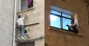 Palestinian Man Scales Hospital Building Every Day To Visit His ...
