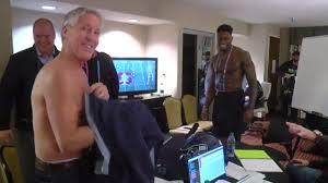 Pete Carroll Takes His Shirt Off To Meet D.K. Metcalf