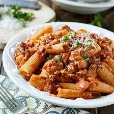 italian sausage rigatoni with y